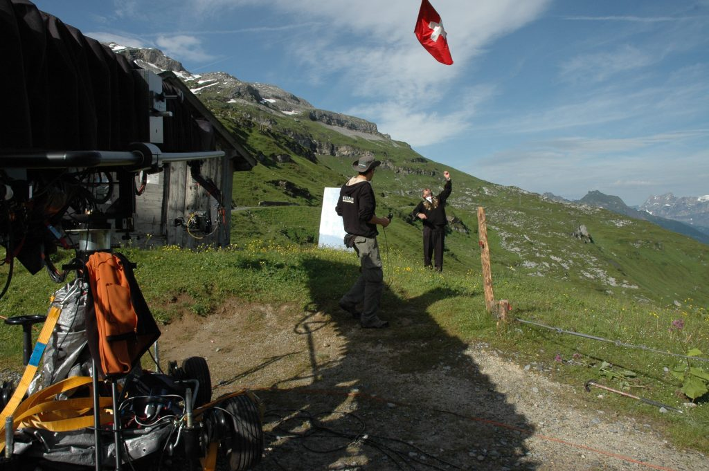 Shooting Switzerland at Klausenpass for Swiss Tourism Bureau Griphouse Mallorca Moviebird30